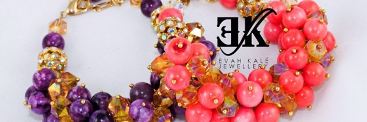 Bespoke handmade jewellery made with semi - precious stones and crystals.