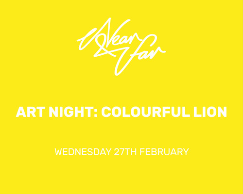 Art Night : Colourful Lion