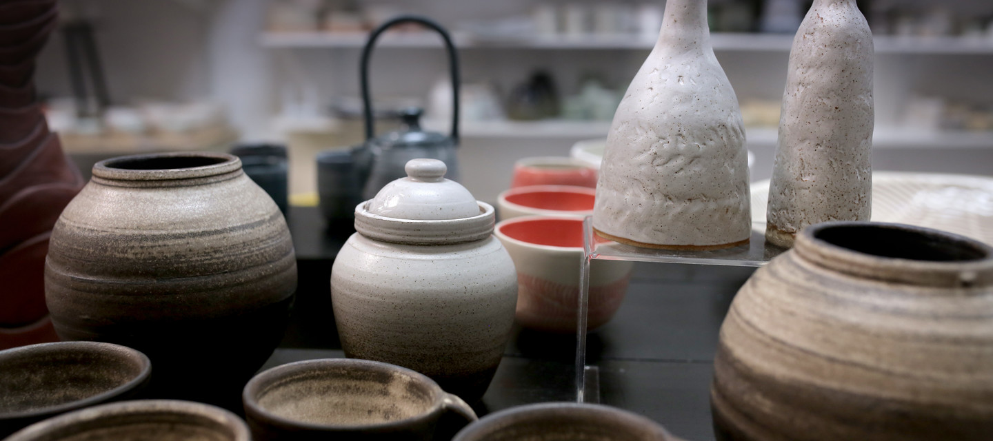 Open access ceramics studio with a range of classes