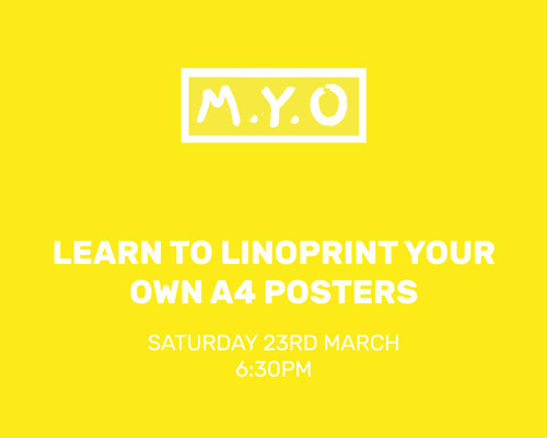 Make Your Own: Learn to print your own A4 posters